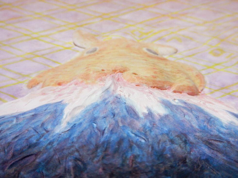 富士山の蓋【メンダコ・レリーフ作品】 | 深海マザー