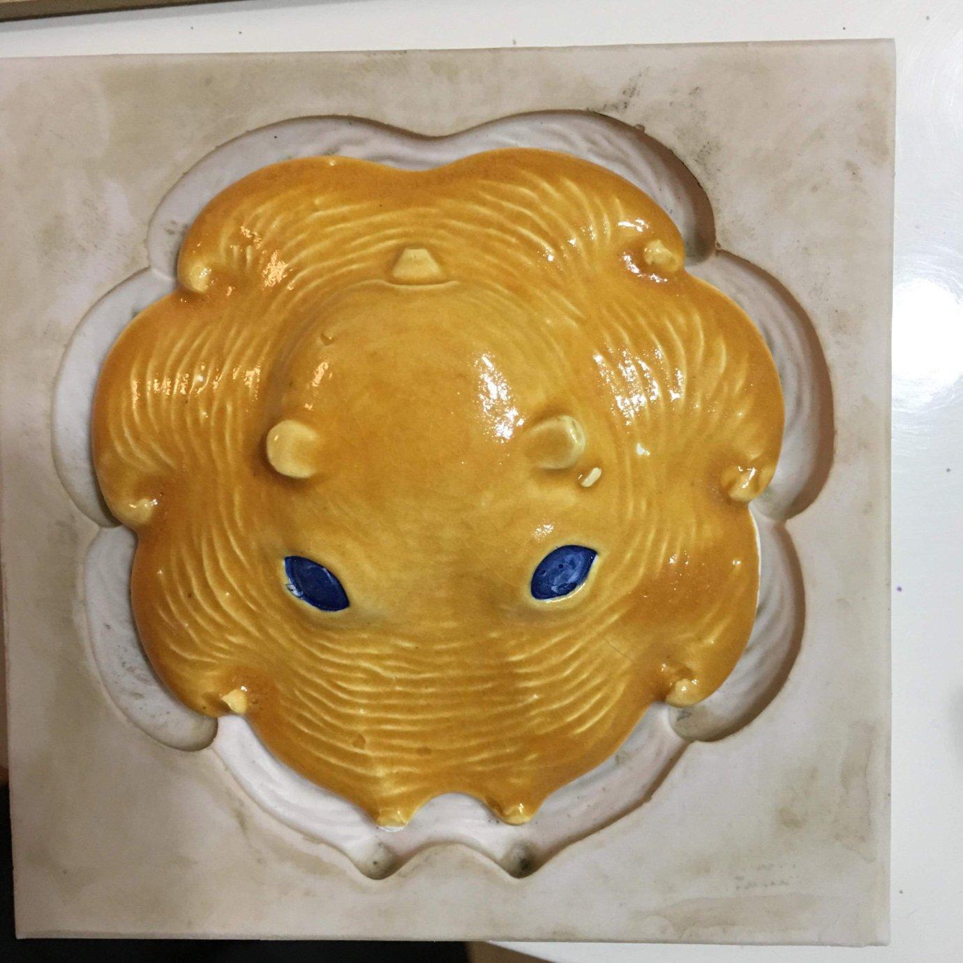 陶器製カップメンダコ(橙)収縮率