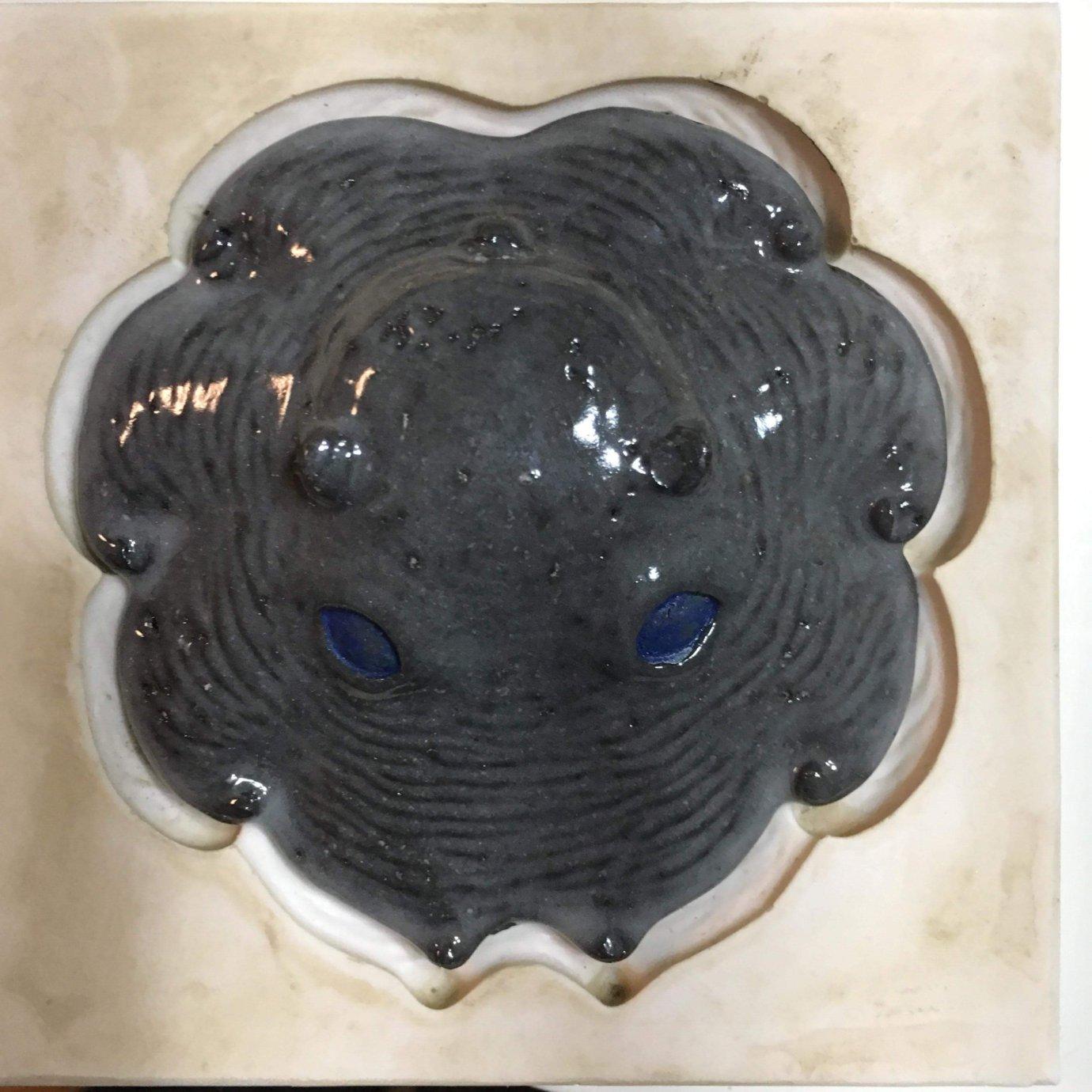 陶器製カップメンダコ(墨)収縮率